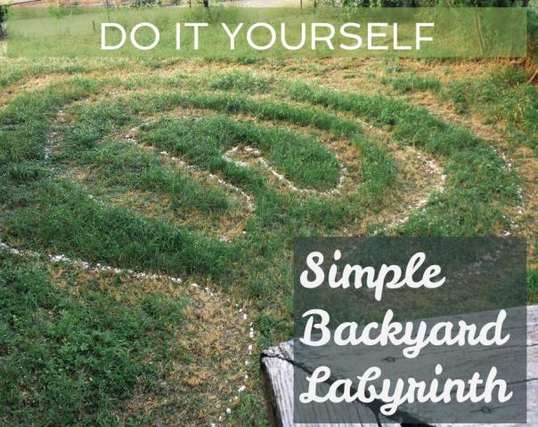 simple backyard labyrinth