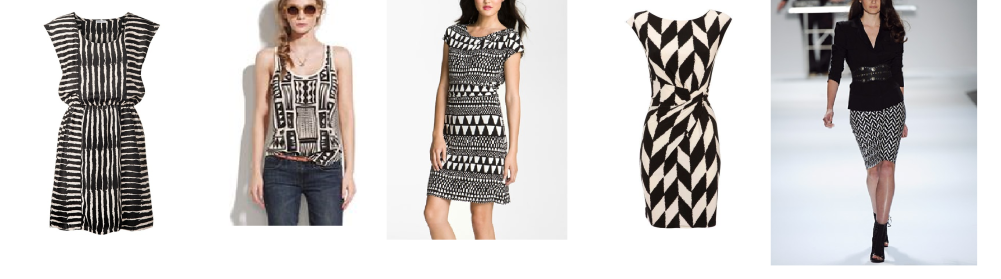 black and white printed outfits