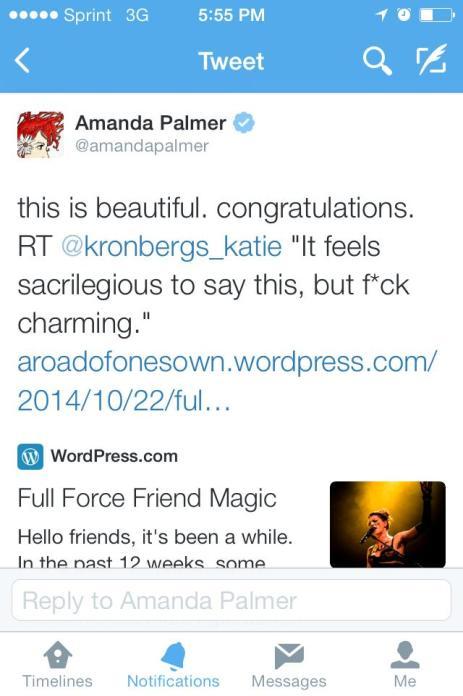 tweet from Amanda Palmer