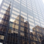 St Patrick's Cathedral reflected