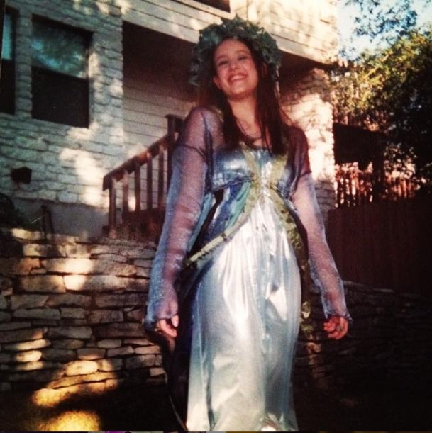 Water sprite/priestess costume in 9th grade!