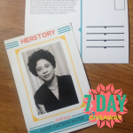 herstory postcard